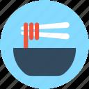 bowl, chopsticks, noodles, spaghetti, vermicelli