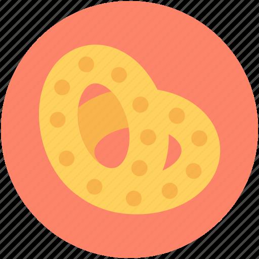 bakery food, bread, breakfast, pastry, pretzel icon