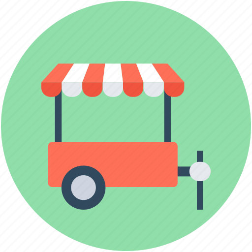 food stand, food truck, food vending, food wagon, vending cart icon