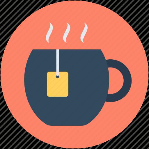 hot drink, instant tea, tea bag, tea cup, tea mug icon