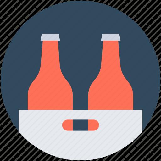 beer box, beer crate, beer kit, bottles, bottles crate icon