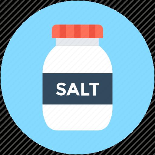 cooking ingredient, salt, salt bottle, salt cellar, salt container icon
