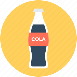 cola, cola bottle, drink, fizzy drink, soda pop icon