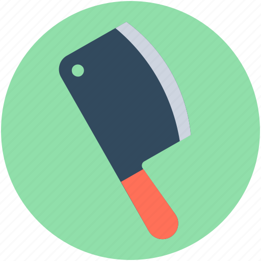 butcher cleaver, butcher knife, cleaver, cutting tool, meat cleaver icon