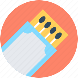 kitchen tool, match fire, matchbox, matches icon
