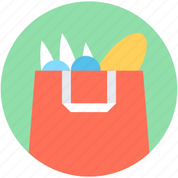 food store, grocery shopping, shopper bag, shopping bag, supermarket bag icon