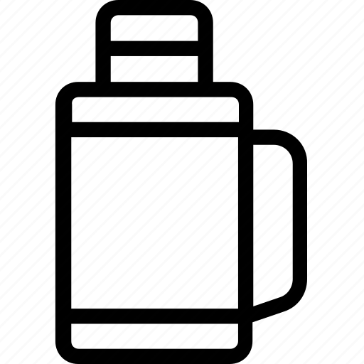 flask bottle, jug, tea kettle, thermos, thermos flask icon
