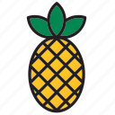 food, fruit, meal, pineapple