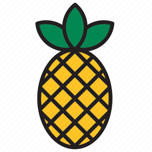 food, fruit, meal, pineapple icon
