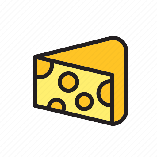 cheese, edam, food, groceries, meal, portion, slice icon
