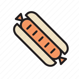 fast, food, hot dog, meal, sandwich, sausage icon