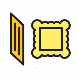 food, italian, macaroni, meal, pasta, ravioli icon