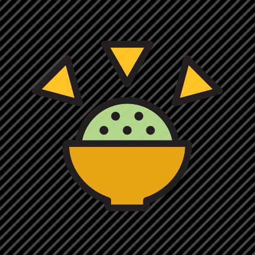 avocado, dip, food, guacamole, meal, mexican, mexico icon