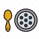 caviar, eggs, fish, food, groceries, meal, russia icon