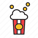 cinema, fast, food, movies, popcorn icon
