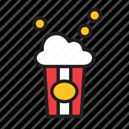 cinema, fast, food, movies, popcorn icon
