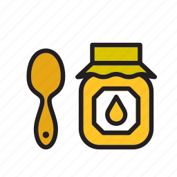 food, groceries, honey, meal, pot icon