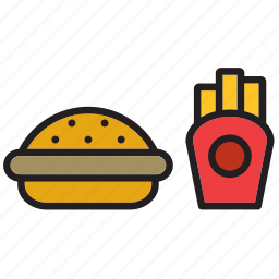 burguer, chips, fast, food, french fries, fries, hamburguer icon
