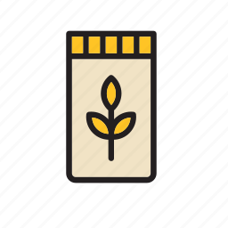 bag, bakery, flour, food, groceries, wheat icon