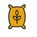 bag, bakery, flour, food, sack, wheat icon