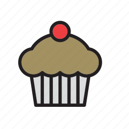 cake, cake shop, cupcake, food, patisserie, pie icon
