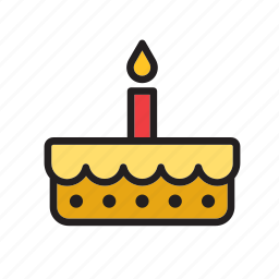 birthday, cake, cake shop, candle, food, patisserie, pie icon