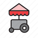 cart, fast, food, meal, trolley, truck icon