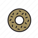 food, chocolate, donut, doughnut, pastry, ring-shaped