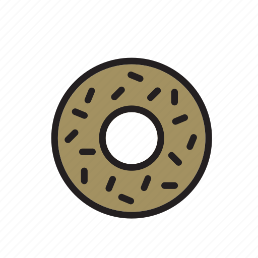 chocolate, donut, doughnut, food, pastry, ring-shaped icon