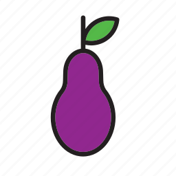 eggplant, food, vegetable icon