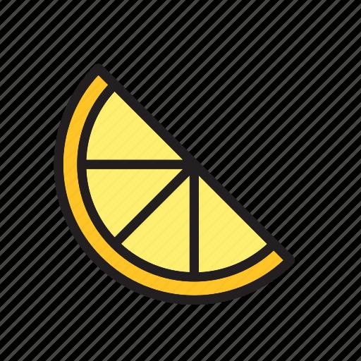 food, fruit, half, lemon, slice, vegetable icon