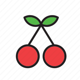 cherries, cherry, food, fruit icon