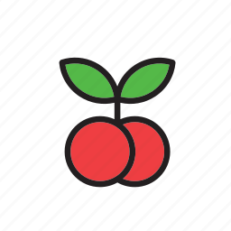 cherries, cherry, food, fruit, vegetable icon