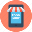 ecommerce, eshop, food shop, online food, online shop icon