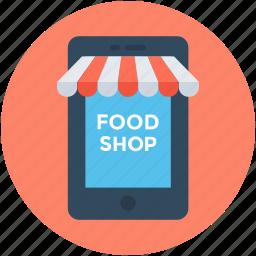 ecommerce, eshop, food shop, online food, online shop icon