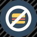 burger restriction, no burger, no fast food, no junk food, unhealthy food