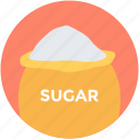food, food sack, grocery, sugar bag, sugar pack icon