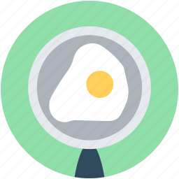 breakfast, cooking, egg, egg frying, fry pan icon