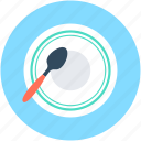dining, eating, plate, spoon, tableware icon