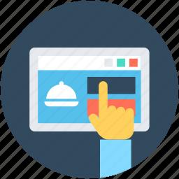 ecommerce, food website, online food, online recipe, restaurant website icon
