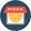 food, italian food, pizza, pizza box, pizza delivery icon