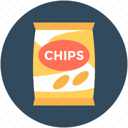 chips pack, potato chips, potato crisps, snack food, snacks icon