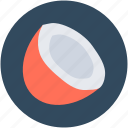 coconut, food, healthy food, nut, tropical fruit icon