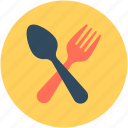 cutlery, eating utensil, fork, spoon, tableware icon