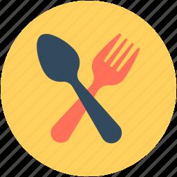 cutlery, eating utensil, fork, spoon, tableware icon