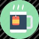 hot drink, instant tea, tea bag, tea cup, tea mug
