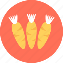 carrots, food, red carrot, root vegetable, vegetable icon