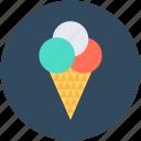 cone, cup cone, ice cone, ice cream, snow cone