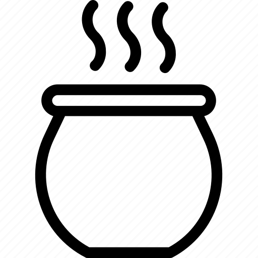 Cauldron, cooking, food, hot food, saucepan icon - Download on Iconfinder