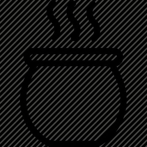 cauldron, cooking, food, hot food, saucepan icon